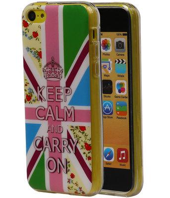 Keizerskroon TPU Cover Case voor Hoesje voor Apple iPhone 5C