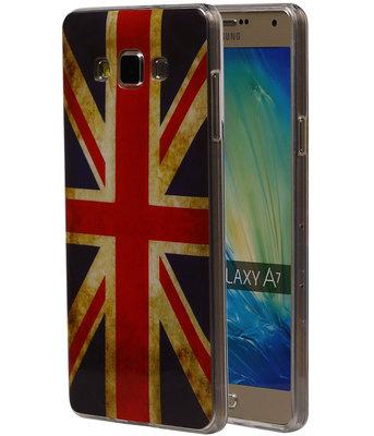 Britse Vlag TPU Cover Case voor Hoesje voor Samsung Galaxy A7 2015