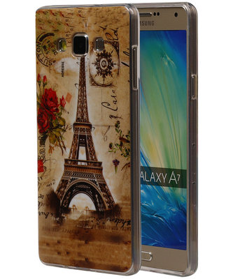 Eiffeltoren TPU Cover Case voor Hoesje voor Samsung Galaxy A7 2015