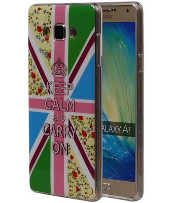 Keizerskroon TPU Cover Case voor Hoesje voor Samsung Galaxy A7 2015