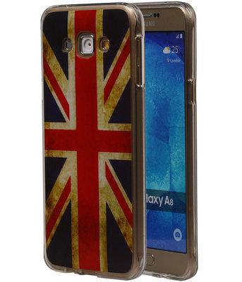 Britse Vlag TPU Cover Case voor Hoesje voor Samsung Galaxy A8 2015