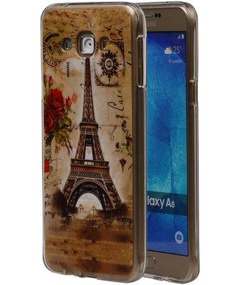 Eiffeltoren TPU Cover Case voor Hoesje voor Samsung Galaxy A8 2015
