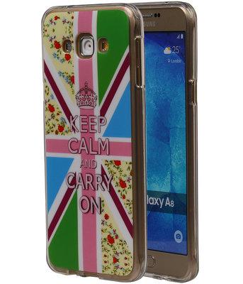 Keizerskroon TPU Cover Case voor Samsung Galaxy A8 2015 Hoesje