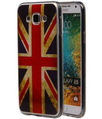 Britse Vlag TPU Cover Case voor Hoesje voor Samsung Galaxy E5