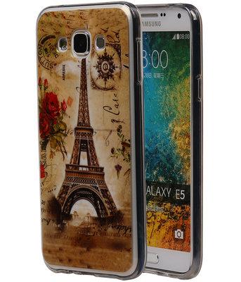 Eiffeltoren TPU Cover Case voor Samsung Galaxy E5 Hoesje