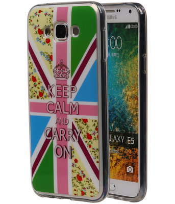 Keizerskroon TPU Cover Case voor Samsung Galaxy E5 Hoesje