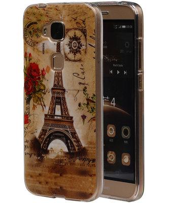 Eiffeltoren TPU Cover Case voor Huawei G8 Hoesje