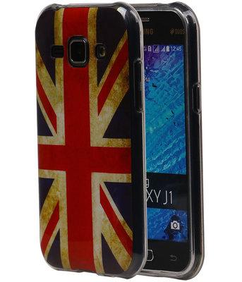 Britse Vlag TPU Cover Case voor Samsung Galaxy J1 2015 Hoesje