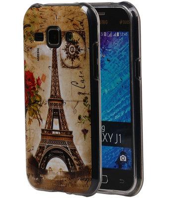 Eiffeltoren TPU Cover Case voor Samsung Galaxy J1 2015 Hoesje