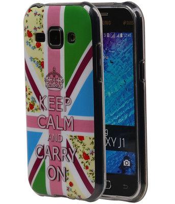 Keizerskroon TPU Cover Case voor Samsung Galaxy J1 2015 Hoesje