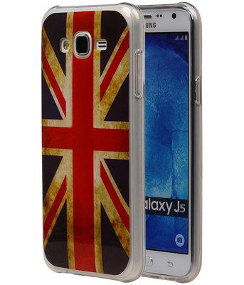 Britse Vlag TPU Cover Case voor Hoesje voor Samsung Galaxy J5 2015