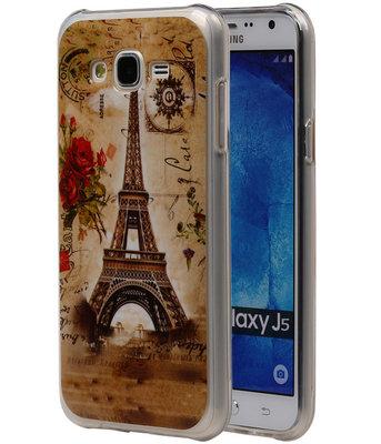 Eiffeltoren TPU Cover Case voor Hoesje voor Samsung Galaxy J5 2015