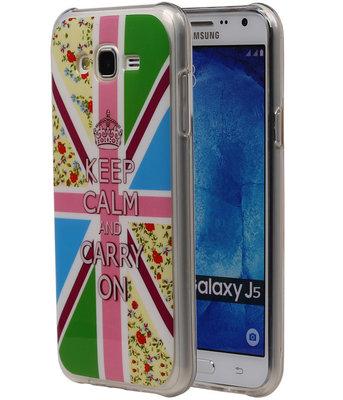 Keizerskroon TPU Cover Case voor Hoesje voor Samsung Galaxy J5 2015