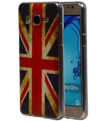 Britse Vlag TPU Cover Case voor Hoesje voor Samsung Galaxy On5