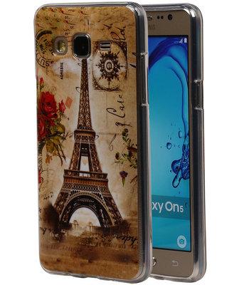 Eiffeltoren TPU Cover Case voor Hoesje voor Samsung Galaxy On5