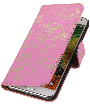 Lace Roze Samsung Galaxy S3 Book/Wallet Case/Cover Hoesje
