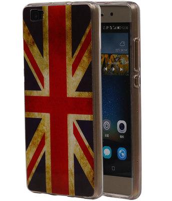 Britse Vlag TPU Cover Case voor Huawei P8 Lite Hoesje