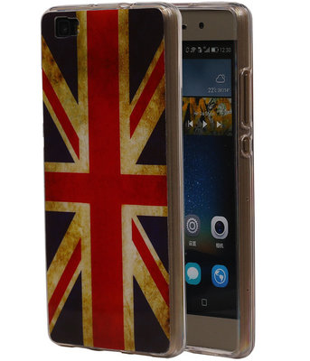 Britse Vlag TPU Cover Case voor Hoesje voor Huawei P8 Lite