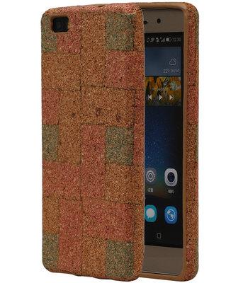 Kurk Design TPU Cover Case voor Huawei P8 Lite Hoesje Model E