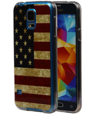 Amerikaanse Vlag TPU Cover Case voor Hoesje voor Samsung Galaxy S5