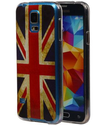 Britse Vlag TPU Cover Case voor Hoesje voor Samsung Galaxy S5