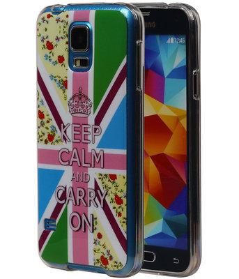 Keizerskroon TPU Cover Case voor Hoesje voor Samsung Galaxy S5