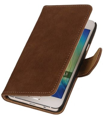 Bruin Bark Hout Hoesje Samsung Galaxy A3 2016 Booktype Wallet Cover