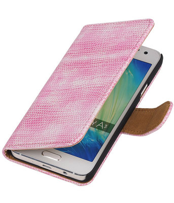 Roze Mini Slang Booktype Hoesje voor Samsung Galaxy A3 2016 Wallet Cover