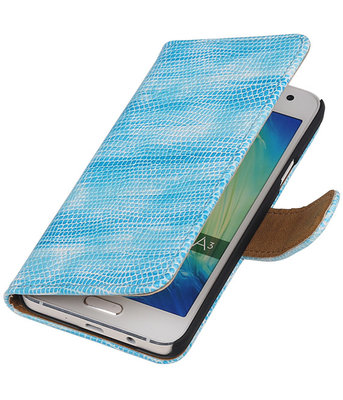 Turquoise Mini Slang Booktype Hoesje voor Samsung Galaxy A3 2016 Wallet Cover