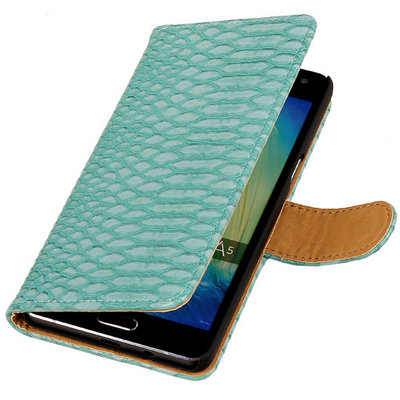 Turquoise Slang Booktype Hoesje voor Samsung Galaxy A3 2016 Wallet Cover
