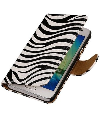 Zebra Booktype Samsung Galaxy A3 2016 Wallet Cover Hoesje