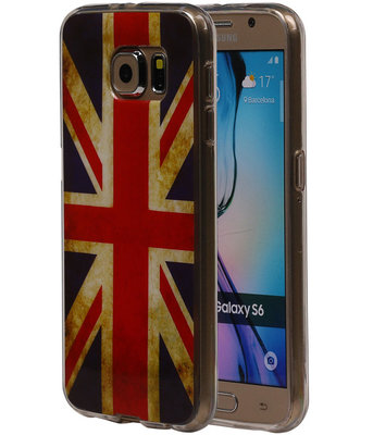 Britse Vlag TPU Cover Case voor Hoesje voor Samsung Galaxy S6