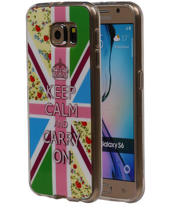 Keizerskroon TPU Cover Case voor Samsung Galaxy S6 Hoesje