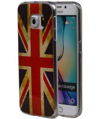 Britse Vlag TPU Cover Case voor Hoesje voor Samsung Galaxy S6 Edge