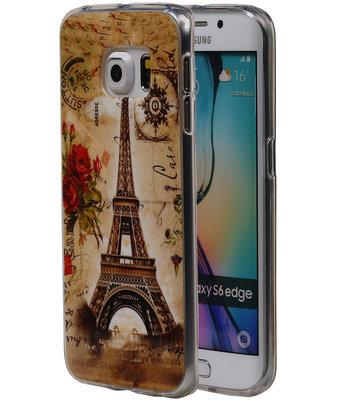 Eiffeltoren TPU Cover Case voor Hoesje voor Samsung Galaxy S6 Edge