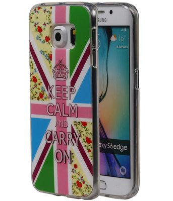 Keizerskroon TPU Cover Case voor Hoesje voor Samsung Galaxy S6 Edge