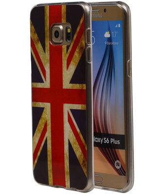 Britse Vlag TPU Cover Case voor Hoesje voor Samsung Galaxy S6 Edge Plus