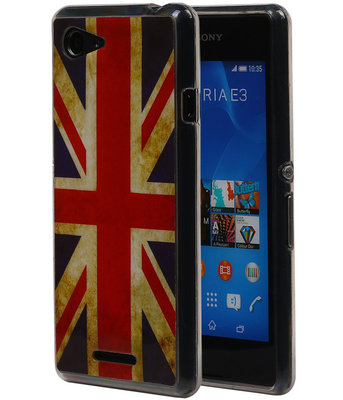 Britse Vlag TPU Cover Case voor Hoesje voor Sony Xperia E3