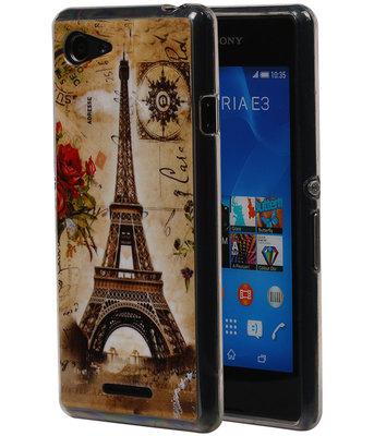 Eiffeltoren TPU Cover Case voor Hoesje voor Sony Xperia E3