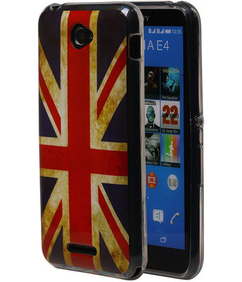 Britse Vlag TPU Cover Case voor Hoesje voor Sony Xperia E4