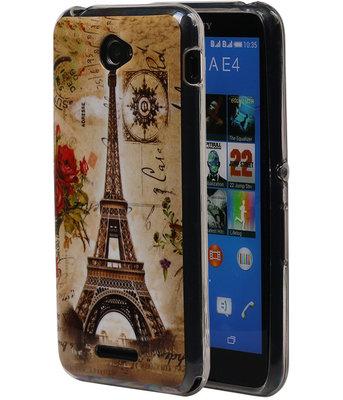 Eiffeltoren TPU Cover Case voor Hoesje voor Sony Xperia E4