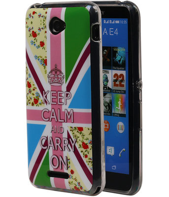 Keizerskroon TPU Cover Case voor Hoesje voor Sony Xperia E4