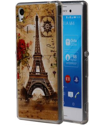 Eiffeltoren TPU Cover Case voor Hoesje voor Sony Xperia M4 Aqua