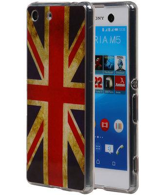 Britse Vlag TPU Cover Case voor Hoesje voor Sony Xperia M5
