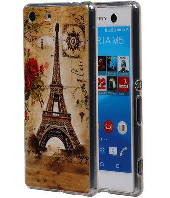Eiffeltoren TPU Cover Case voor Hoesje voor Sony Xperia M5