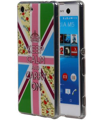Keizerskroon TPU Cover Case voor Hoesje voor Sony Xperia M5