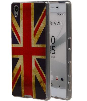 Britse Vlag TPU Cover Case voor Hoesje voor Sony Xperia Z5