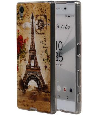 Eiffeltoren TPU Cover Case voor Hoesje voor Sony Xperia Z5