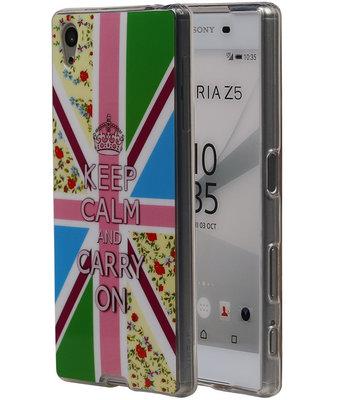 Keizerskroon TPU Cover Case voor Hoesje voor Sony Xperia Z5