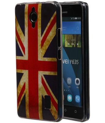 Britse Vlag TPU Cover Case voor Huawei Y635 Hoesje